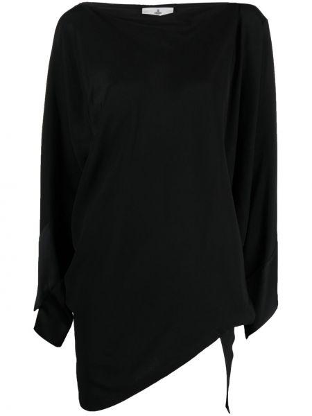 Черный топ с длинными рукавами из вискозы Vivienne Westwood
