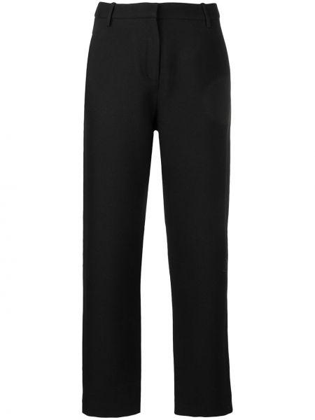 Черные брюки с воротником с поясом Noon By Noor