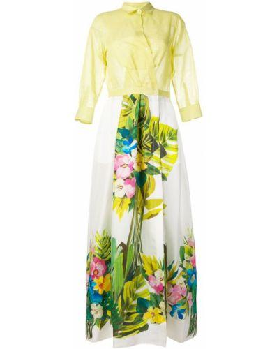 Желтое платье макси Sara Roka