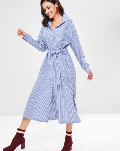 Платье макси в полоску платье-майка Zaful