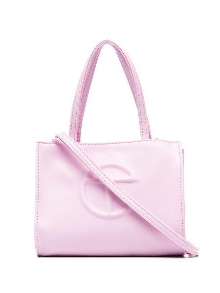 Różowa torba na ramię Telfar