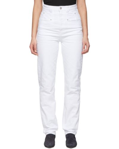 Niebieski jeansy na wysokości z kieszeniami Isabel Marant