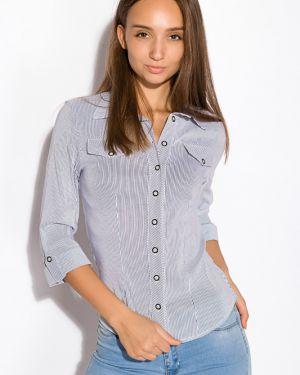 Рубашка с поясом для офиса Time Of Style
