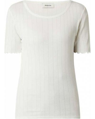 Bluzka w paski - biała Modström