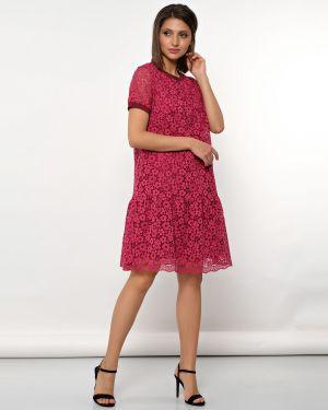 С рукавами плиссированное вечернее платье с вырезом круглое Jetty