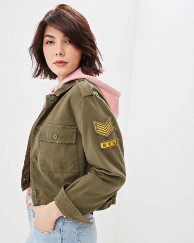 Джинсовая куртка - зеленая Jennyfer