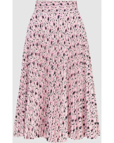 Розовая юбка миди Prada