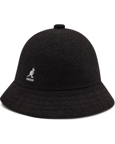 Czarna czapka z nylonu na co dzień Kangol