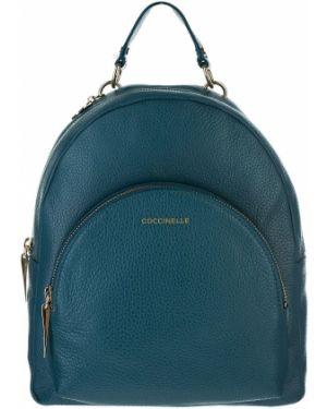 Кожаный рюкзак бирюзовый Coccinelle