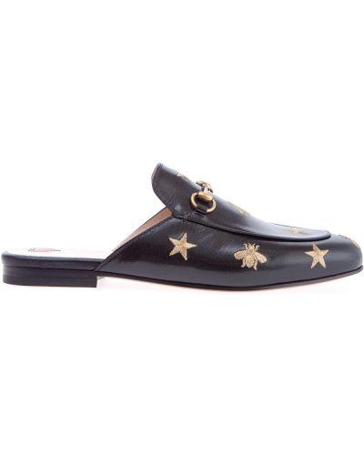 Мюли на каблуке с вышивкой Gucci