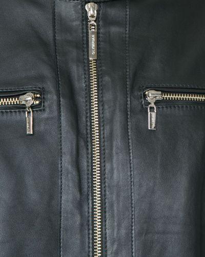 Черная кожаная куртка с воротником Olympiah