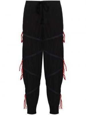 Черные брюки на шнуровке Greg Lauren