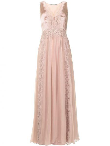 Кружевное вечернее платье - фиолетовое Alberta Ferretti