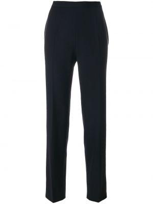 Прямые классические брюки винтажные с воротником с карманами Moschino Pre-owned