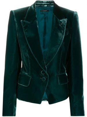 Бархатный пиджак с карманами на пуговицах Tom Ford