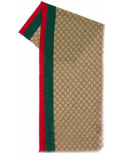 Beżowy etola wełniany Gucci