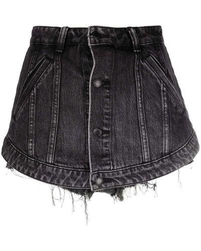 Джинсовые шорты с завышенной талией - серые Alexander Wang