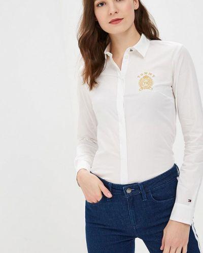 Белая рубашка с длинным рукавом Tommy Hilfiger
