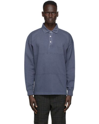 Синяя рубашка с воротником с манжетами с длинными рукавами Schnaydermans