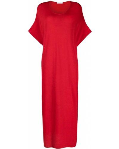 Красное платье мини с вырезом из вискозы P.a.r.o.s.h.