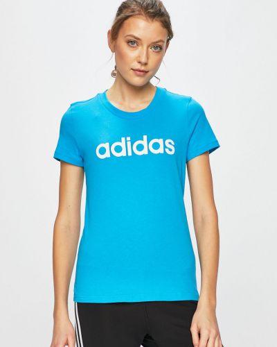 Футболка прямая хлопковая Adidas Performance