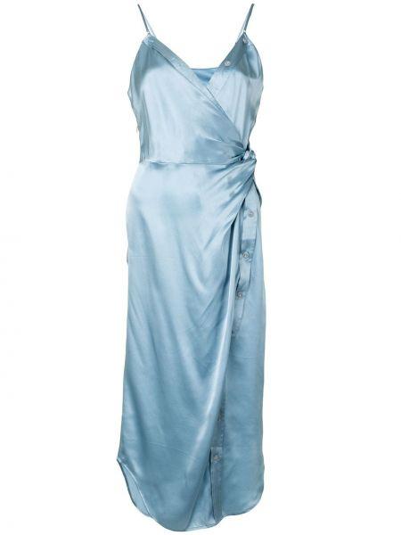 Тонкое платье на пуговицах на бретелях с V-образным вырезом T By Alexander Wang