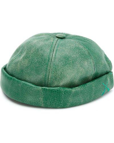 Zielona czapka skórzana Junya Watanabe