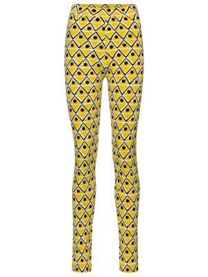 Базовые желтые леггинсы Moncler Genius