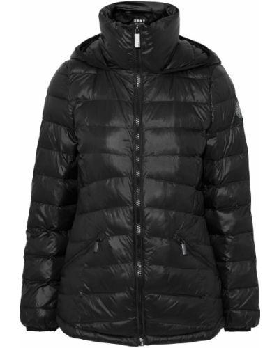 Нейлоновая черная стеганая куртка Dkny