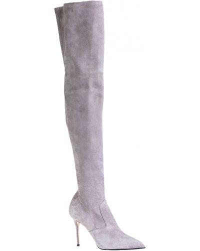 Кожаные сапоги осенние на каблуке Le Silla