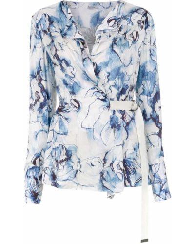 Блузка с длинным рукавом в полоску с запахом Tufi Duek