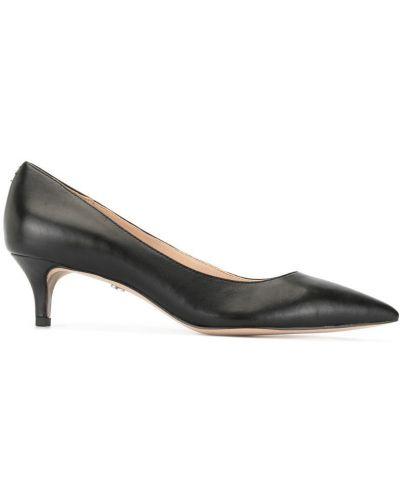 Туфли на каблуке на низком каблуке черные Sam Edelman