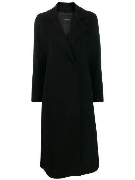Klasyczny czarny płaszcz wełniany John Richmond