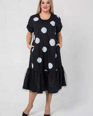 Платье мини в горошек сетчатое Luxury