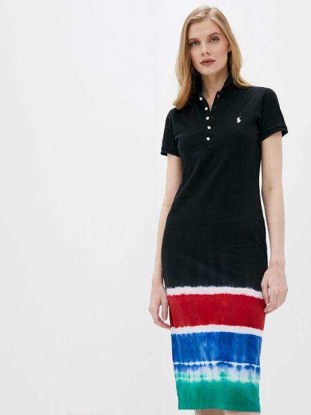 Платье футболка черное Polo Ralph Lauren