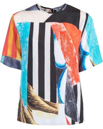 Блузка с коротким рукавом шелковая прямая Joseph