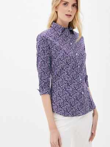 Фиолетовая блузка с длинным рукавом Gabriela