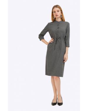 Платье с карманами - серое Emka