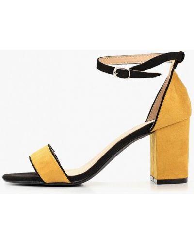 Босоножки на каблуке желтый Vera Blum