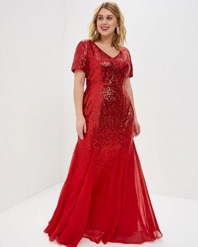 Вечернее платье весеннее красный Goddiva Size Plus