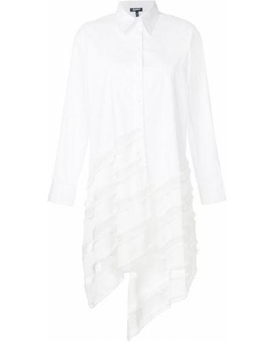 Рубашка белая в полоску Jil Sander Navy