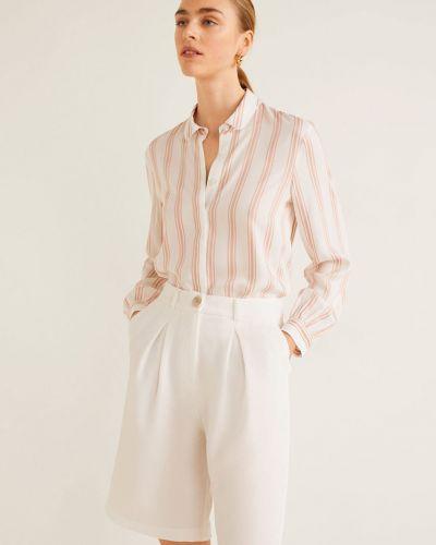 Блузка с длинным рукавом из вискозы в полоску Mango