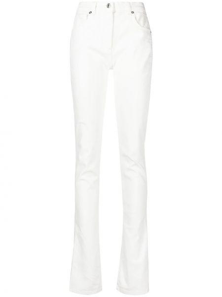 Белые джинсы на молнии с разрезом Blumarine