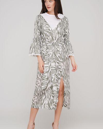 Приталенное платье с поясом с разрезом Anna Yakovenko