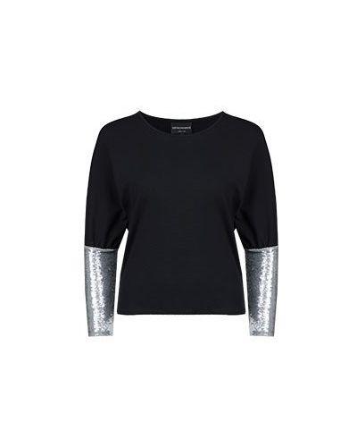 Черная блузка Emporio Armani