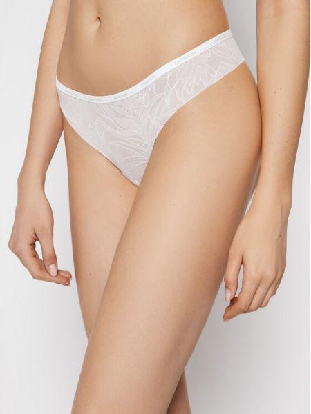 Stringi - białe Calvin Klein Underwear