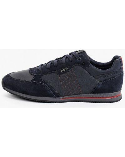Синие зимние низкие кроссовки Geox