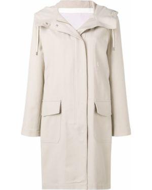 Длинное пальто с поясом айвори Closed