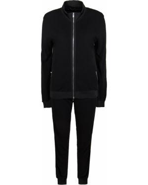 Черный спортивный костюм с поясом на молнии Capobianco