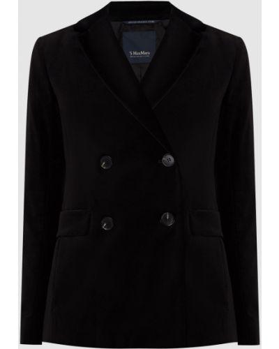 Бархатный пиджак - черный Max Mara